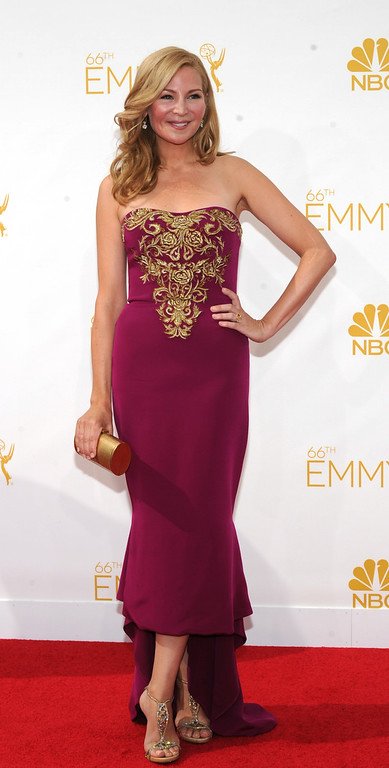 . Jennifer Westfeldt on the red carpet at the 66th Primetime Emmy Awards show at the Nokia Theatre in Los Angeles, California on Monday August 25, 2014. (Photo by John McCoy / Los Angeles Daily News)