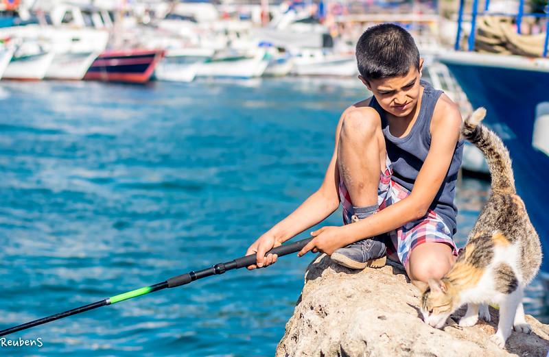 Boy fishing with cat.jpg