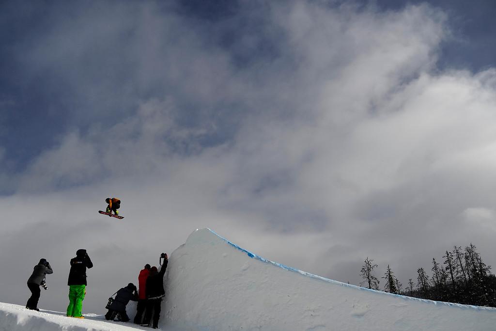 . Yuki Kadono rides during the slopestyle finals of the Copper Mountain Grand Prix.  (Photo by AAron Ontiveroz/The Denver Post)