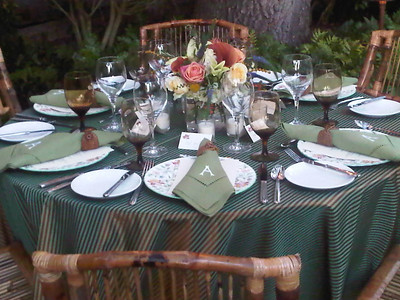 Autumn Garden Supper in a Charleston Garden