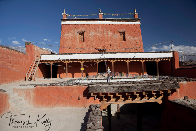Jampa Lakhang in Lo Manthang. View from East.  Mustang, Nepal.