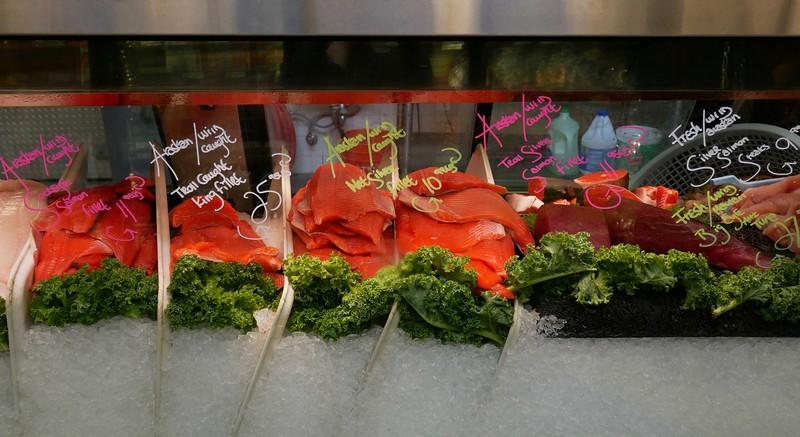 New Sagaya City Market-salmon, salmon & more salmon