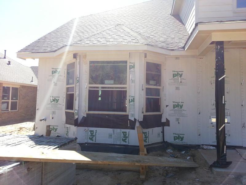 Master Bedroom windows from back yard.