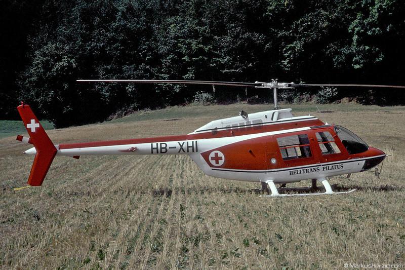 HB-XHI AB206B Helitrans Pilatus @ Gümligen Switzerland 30Aug81