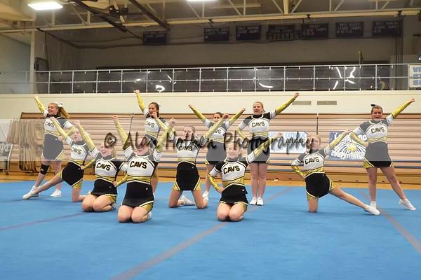 Cheer League meet at LCHS - Corunna Varsity