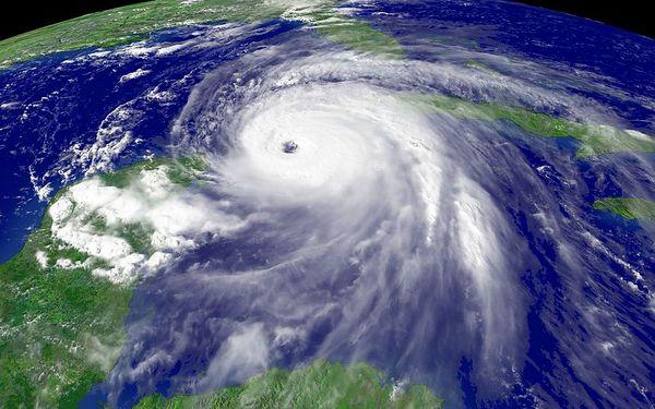 Hurricane activity - Boca Raton Florida September 2004.