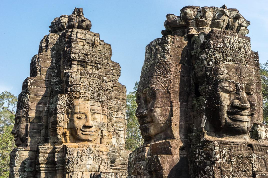 Cambodian Ruins Bayon Faces