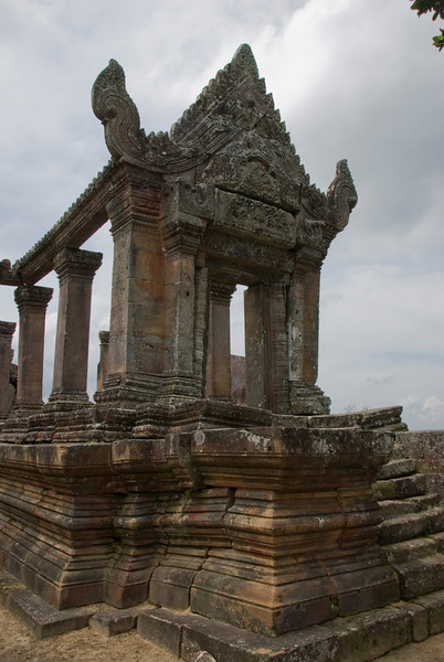 Beautiful architecture at the front ruins of Preah Vihear Temple