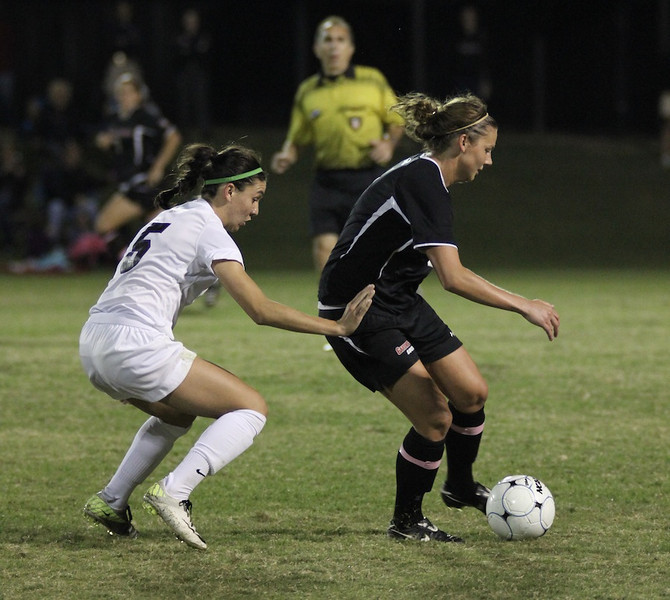 Megan Reimer, 4, maintains control of the ball.