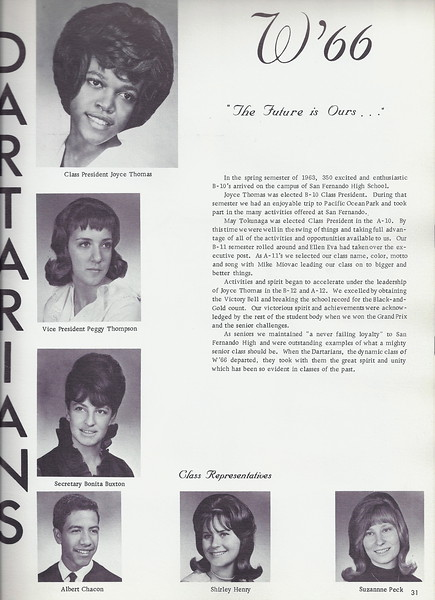 CLASS OF 1966 YEARBOOK