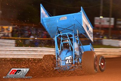 Lincoln Speedway - All Star Sprints - 8/25/18 - Paul Arch