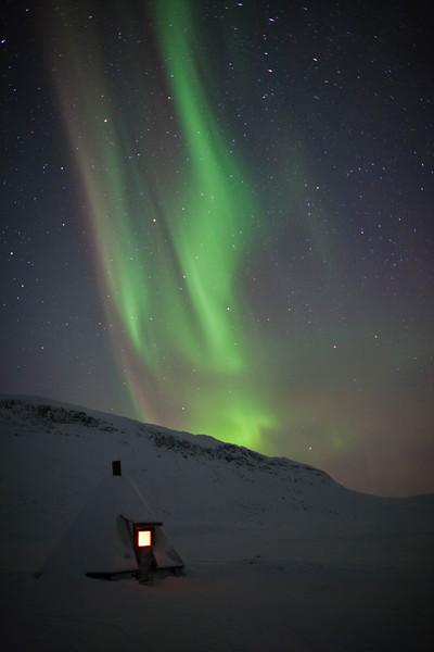 Kota, Saana and Northern Lights