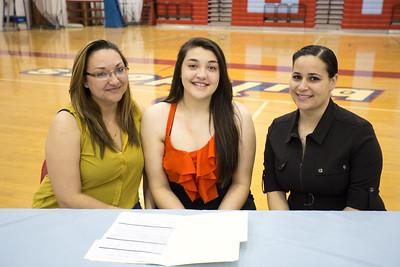 Socorro High School signing  Lizette Aguirre/Yasmin Garcia