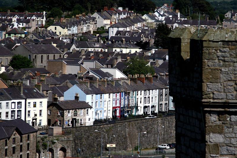 Overlooking Caernarfon from the castle.