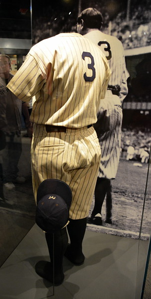 Babe Ruth's Uniform on display at the National Baseball Hall of Fame & Museum