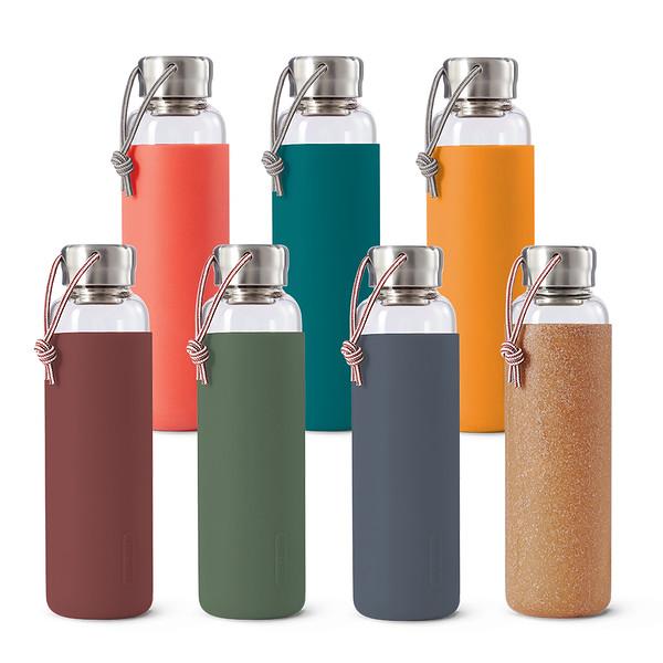 Glass Water Bottle range Black Blum