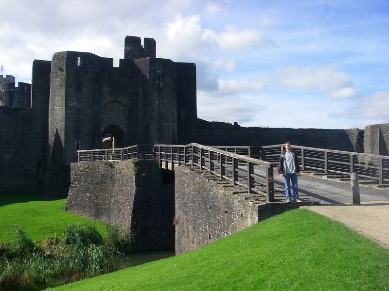 at the bridge over the moat