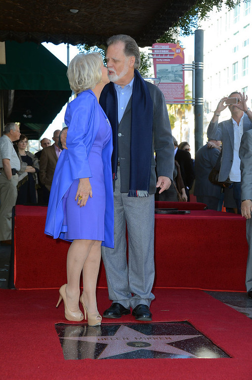 . Actress   Helen Mirren, with her husband director Taylor Hackford,  was Honored On The Hollywood Walk Of Fame with her own star on January 3, 2013 in Hollywood, California.  (Photo by Frazer Harrison/Getty Images)