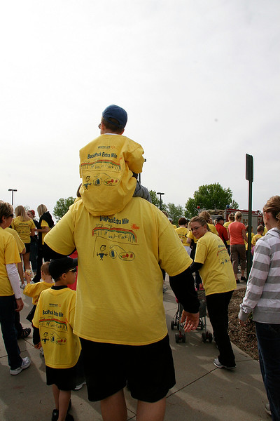All ages of walkers joined the BackPack – and a few got to ride
