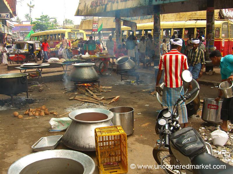 The Scene of Free Biryani - Kollam, India