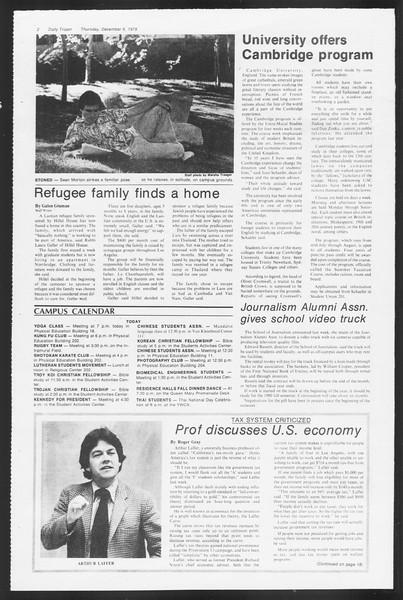 Daily Trojan, Vol. 87, No. 54, December 06, 1979