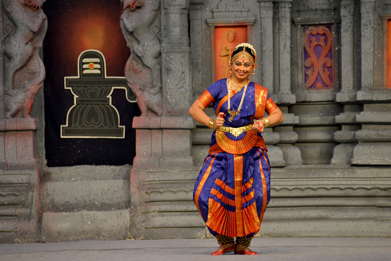 """Bharatham: Brindha Ramesh, Srirangam.<br /> Performance at Chidambaram Natyanjali Dance Festival 2015 held at Chidambaram in February 2015. The festival is known for its serenity and uniqueness of the devotion of the dancers dedicating their """"Natya"""" (Dance) as """"Anjali"""" (Offering) and worship to Lord Nataraja (Shiva)."""