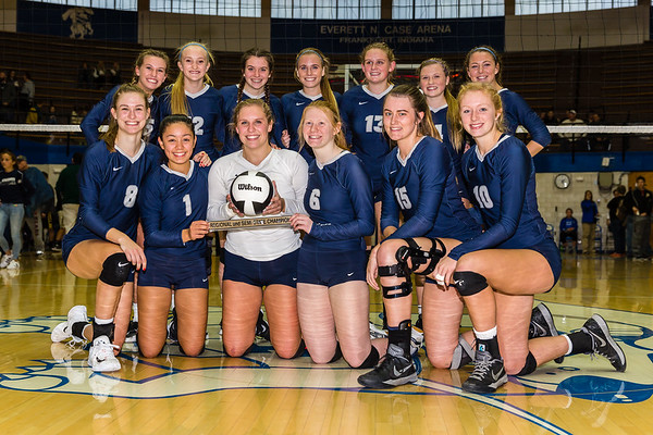 CC Varsity Volleyball vs Pioneer  2017-10-28 Semi-State