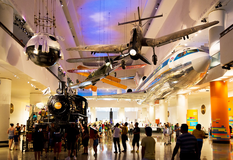 Next day, back in Chicago:  The Transportation Hall of the Museum of Science and Industry.