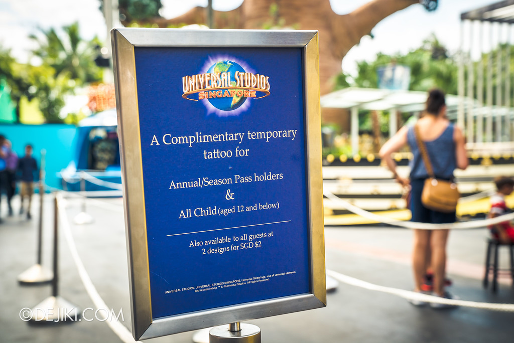 Universal Studios Singapore Park Update July 2017 - Despicable Me Minion Breakout Party event / Free tattoos