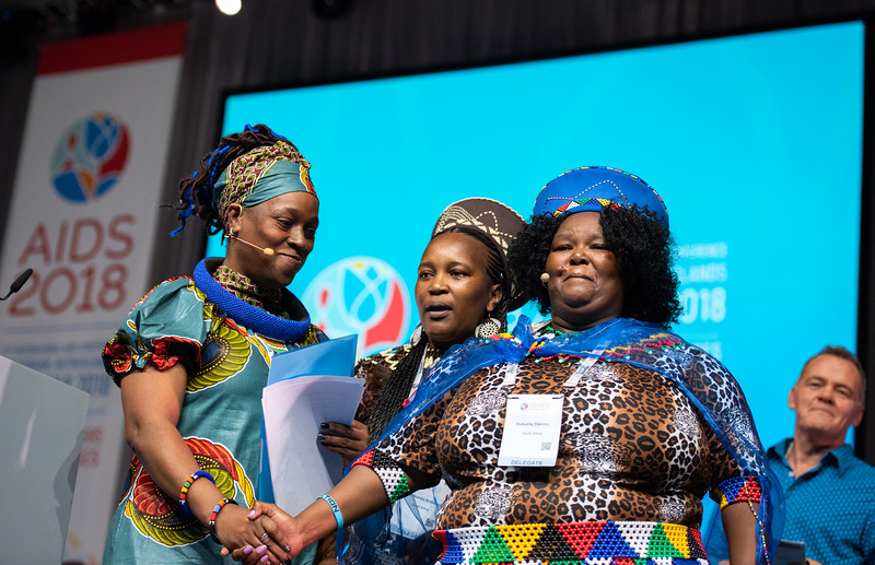 22nd International AIDS Conference (AIDS 2018) Amsterdam, Netherlands.   Copyright: Steve Forrest/Workers' Photos/ IAS  Photo shows: Special Session: The legacy of Prudence Mabele: Championing gender justice and health equity. Duduzile (Dudu) Dlamini, winner of  the Prudence Mabele Prize.