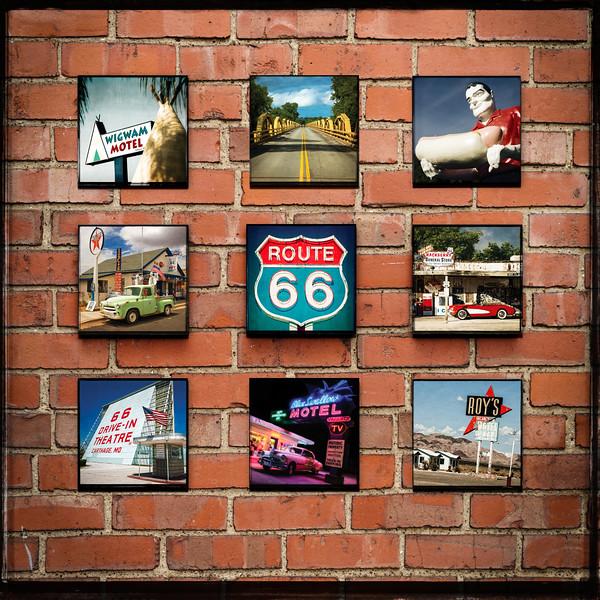 Pics On Route 66 Wood Panel Print Display 3