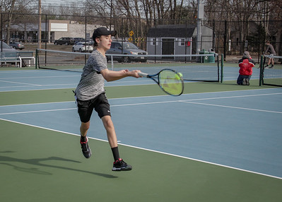 LHS Boys Tennis vs. Minnechaug 2019