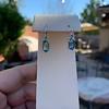 4.20ctw Blue Zircon Dangle Earrings 13