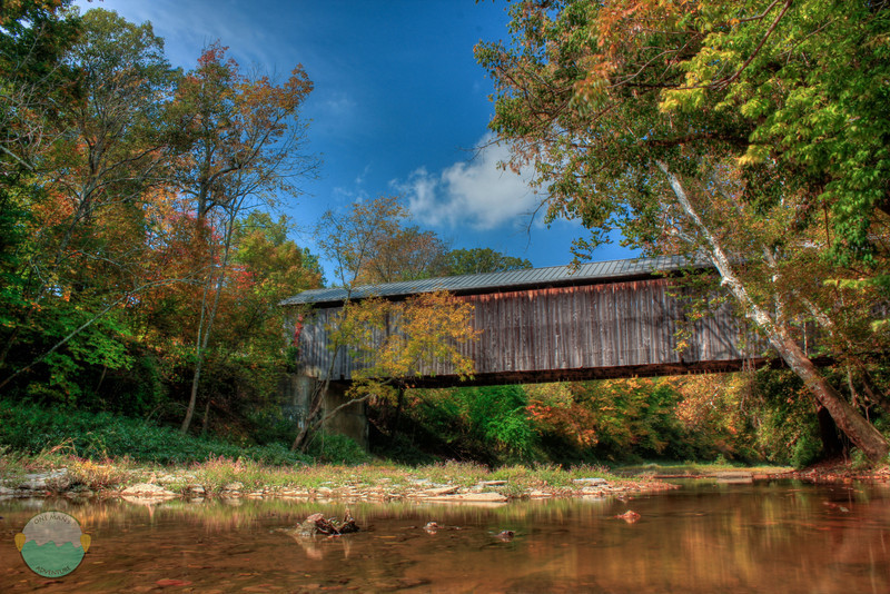 Brown Covered Bridge<br /> A covered bridge simply named for its county of residence, Brown County, Ohio.  Fall colors starting to show up, but lots of borwns.