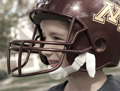 Football Boys have a Helmet