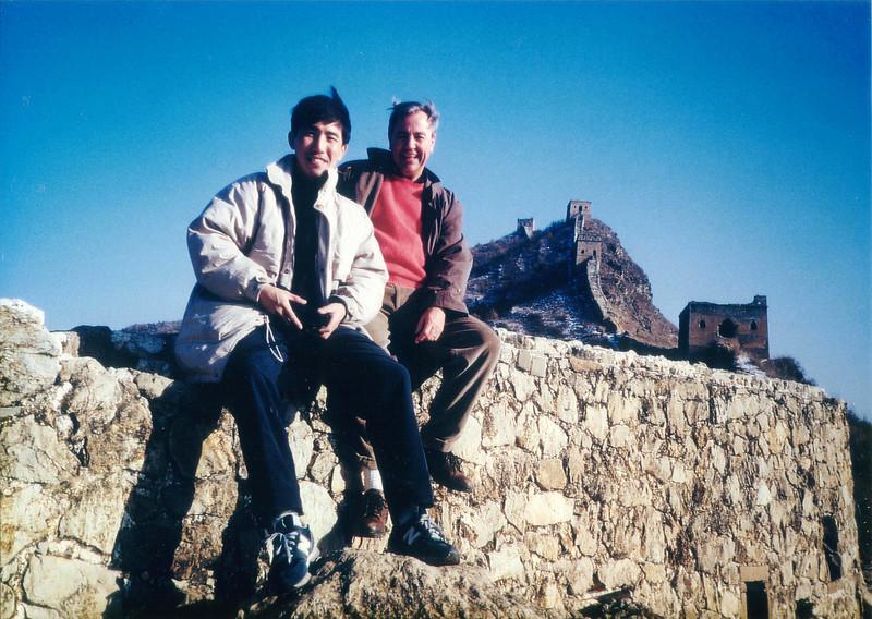 Simatai Great Wall with Yun - winter 1997 Winter at the Great Wall at Simatai - January 1997 and again 1998
