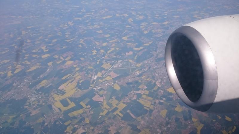 Prague Airport from 32,000 feet