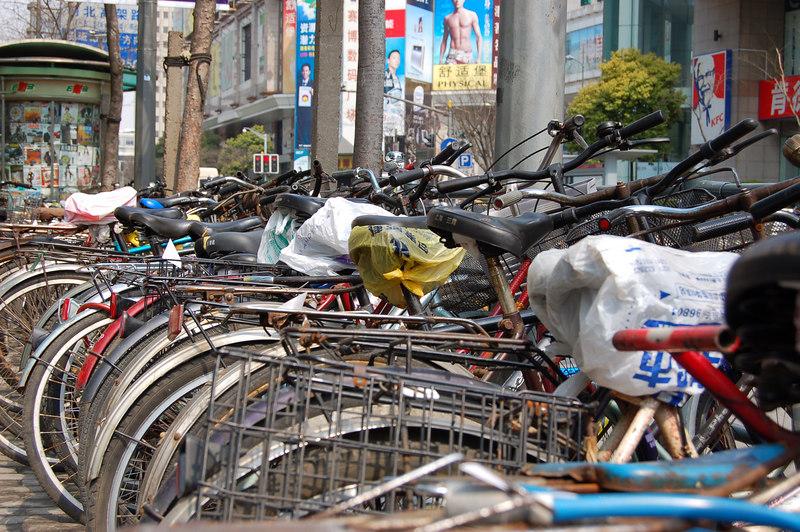 Shanghai, China: Bicycles