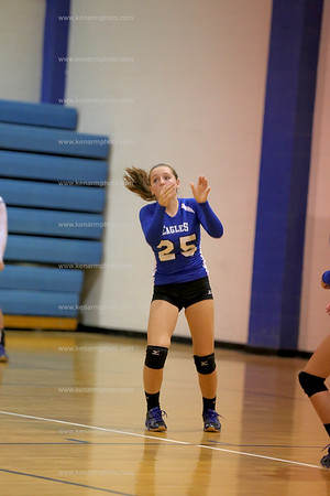 East Bladen 16 Heide Trask volleyball
