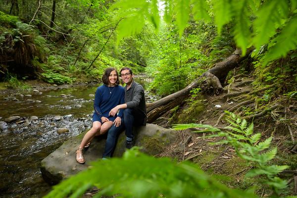 Sara + Anthony Engagement @ Nisene Marks Redwood Forest in Aptos