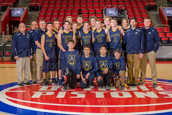 Alcona boys varsity basketball 12-30-2017