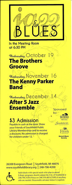Jazz & Blues fliers