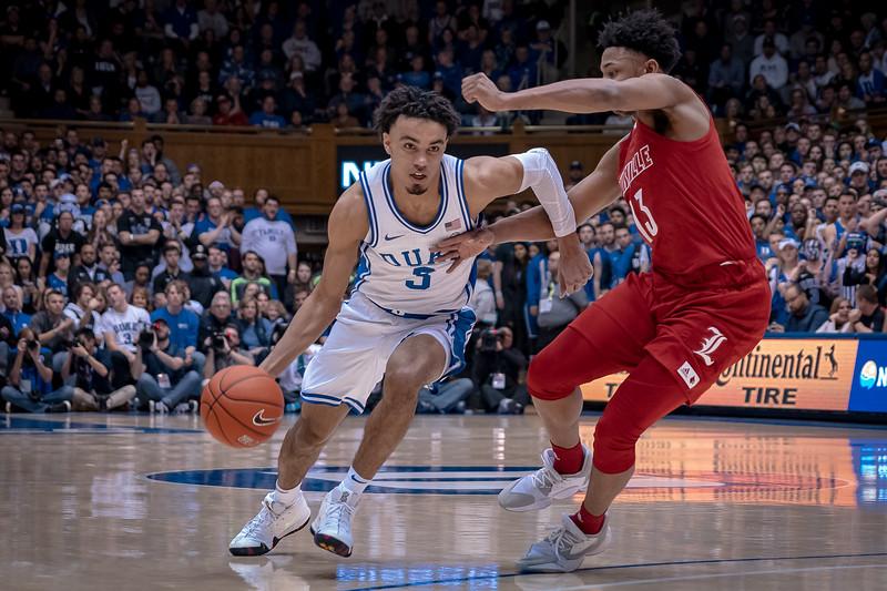 NCAA Basketball 2020:  Louisville Cardinals vs. Duke Blue Devils.  JAN 18, 2020.
