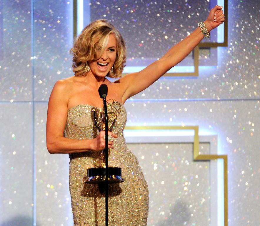 . Eileen Davidson accepts the award for outstanding lead actress in a drama series for ìDays of Our Livesî at the 41st annual Daytime Emmy Awards at the Beverly Hilton Hotel on Sunday, June 22, 2014, in Beverly Hills, Calif. (Photo by Chris Pizzello/Invision/AP)