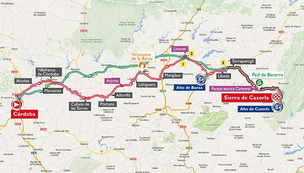 Vuelta a España stage 6: Cordoba > Sierra de Cazorla, 200kms