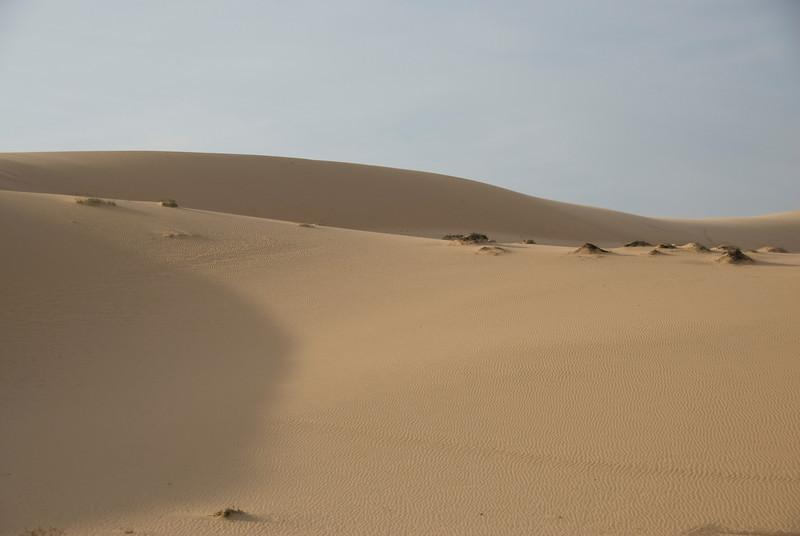 White sand dune formation in Mui Ne, Vietnam