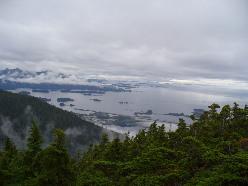 View of Sitka airport from one of our hikes