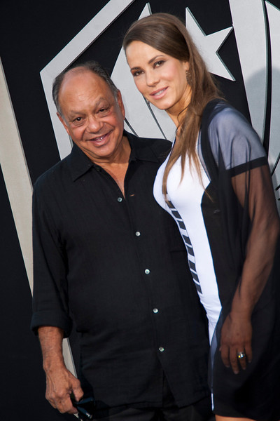 HOLLYWOOD, CA - JULY 09: Actor/comedian Cheech Marin and wife Natasha Marin arrive at the premiere of Warner Bros. Pictures' and Legendary Pictures' 'Pacific Rim' at Dolby Theatre on Tuesday, July 9, 2013 in Hollywood, California. (Photo by Tom Sorensen/Moovieboy Pictures)