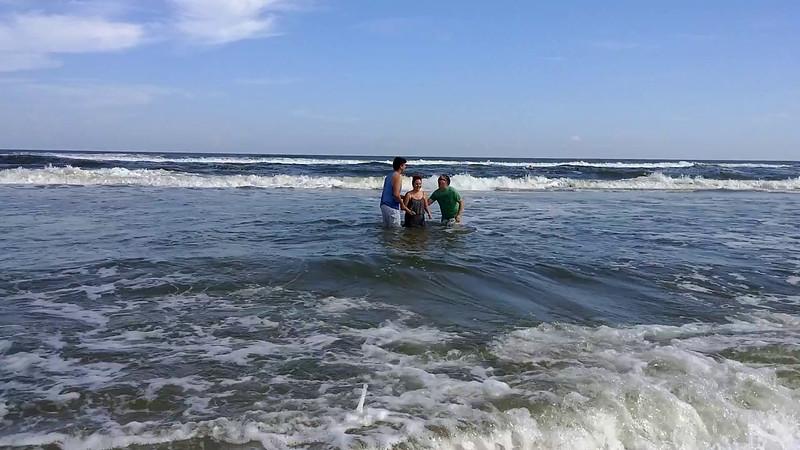 Mollie getting baptized - 10/30/16
