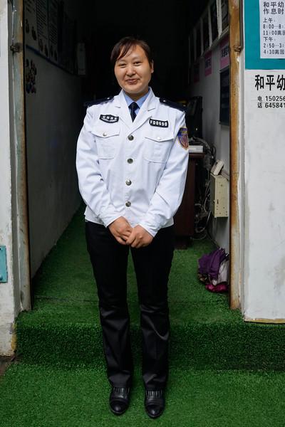 Fengdu - Security at private pre-school nursery.